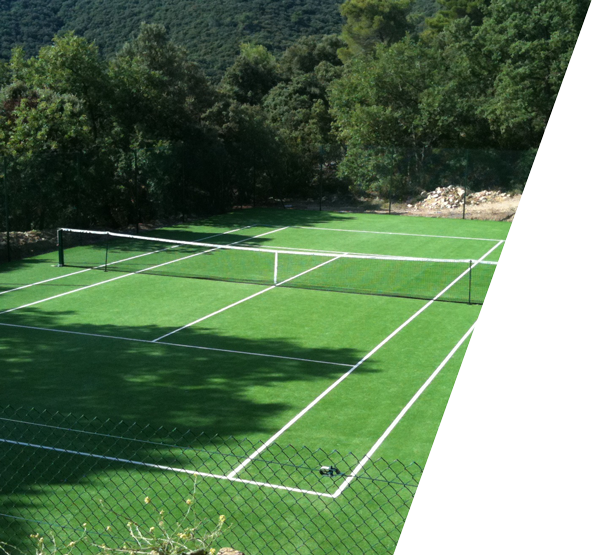 Gazon synthétique Tennis Eco Green3